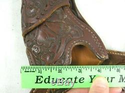 George Lawrence Fancy Tooled Gun Belt 50FZ 44 Western Revolver Holster 130FZ 507