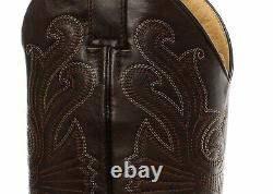 Grinders Carolina CROC Brown Leather Crocodile Tail Boot Cowboy Western Boots
