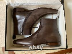 Gucci Fondente Boots Brown Leather 12.5 UK 13 US