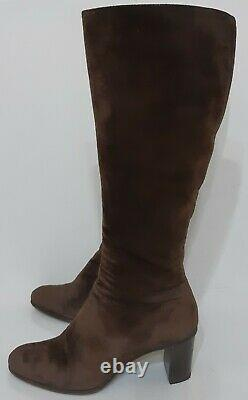 Gucci Patent Suede Boots Heels 202941 size 38 CJ US 7,5
