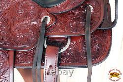 Hilason Custom Designed Rare Western Trick Riding Saddle Mahogany U-2-16