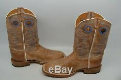 Justin 10.5 EE Square Toe Bent Rail Chievo Leather Western Cowboy Boot BR744