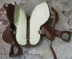 King Series 16 1/2 Trekker Western Trail Horse Saddle Brown Leather KS8520