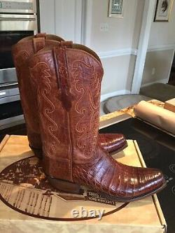 LUCCHESE NEW CLASSIC ULTRA BELLY CAIMAN BOOTS Men's/ 10D