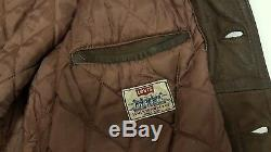 Levi's Trucker Vintage Leather Motorcycle Jacket Brown XL Levis Western Buffalo