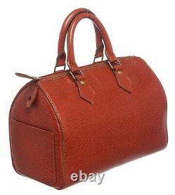 Louis Vuitton Brown Epi Leather Speedy 25 cm Satchel Bag