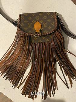 Louis Vuitton Fringe Vintage Boho Crossbody Bag