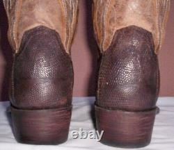 Lucchese Antique Tan Armadillo (Teju) Lizard Skin, Style #M2904, Size (10 D)