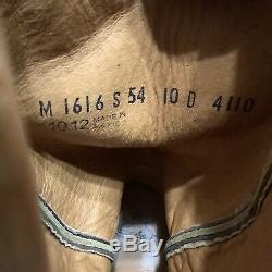 Lucchese Boots-Men's Sienna Burn Ostrich Leg Clipped Toe M1616. S54 men 10 D