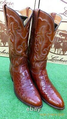 Lucchese Classic Alligator Crocodile Rare San Antonio Exotic Western Boot 8.5 Ee