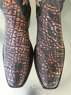 Lucchese Classics Cognac Safari Exotic Cowboy Western Boots 9 D