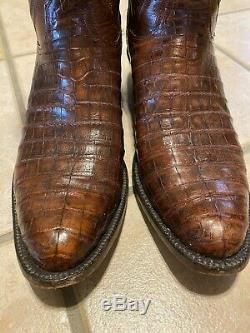 Lucchese Classics Rare Belly Cut Alligator Boots 12D