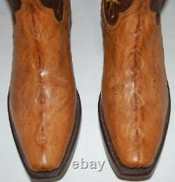 Lucchese Classics Tan Sturgeon Vamps Gy1020 Mens Cowboy Banner Boots Size 8.5d