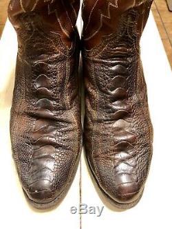 Lucchese Men's Ostrich Leg Cowboy Boots N1119. R4 Size 11 D 500$ New