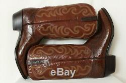 Lucchese NEW 5388 Alligator Belly Bias Cut Cowboy Boots USA Men's US 12 D