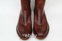 Lucchese Original'Bannock' Cowboy Western Ranch Boots Sz 11 D Pecan Brown