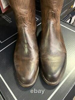Mens 12 D Lucchese Shane Mad Dog Goat Chocolate