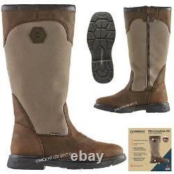 Mens Country Work Leather Waterproof Walking Outdoor Zip Hunting Shoes Boots Sz