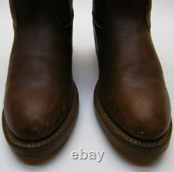 Mens Vtg Red Wing 1155 Pecos Brown Leather Pull On Work Cowboy Western Boots 6 D