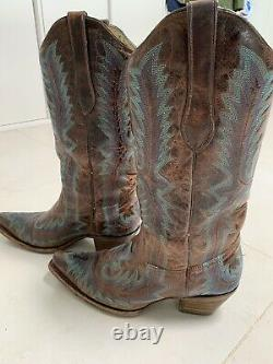 Mexican Cowboy Boots Size 9 Amazing