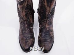 Mint $295 Sz 7 Freebird By Steven Rustler Silverado Distressed Leather Boots