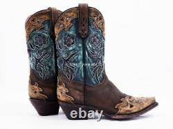 Mint $300 Sz 10 Dan Post Dp3544 Vintage Bluebird Chocolate Western Cowboy Boot