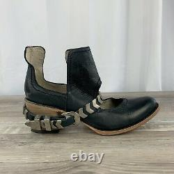 NEW Freebird By Steven Blade Black Distressed Ankle Booties Shoes Women's Size 9