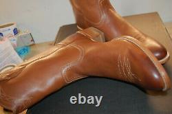 NIB Frye Flynn Pull On 11.5 M $489 Western Boots Mens Cognac Italian Leather