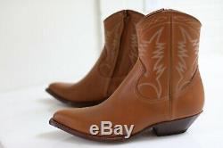 NIB YSL Yves Saint Laurent Western Cowboy Santiag Zip-up Ankle Boots 9 / 42