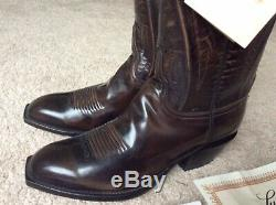 NWOB mens Lucchese Goat Square Seville 9EE 2007 Boots $1200