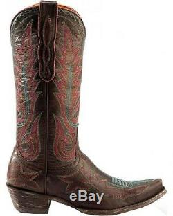 New In Box Old Gringo Re Nevada Chocolate Womens Western Boot Sz 10 $ 500