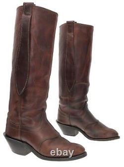 OLATHE Cowboy Boots 10 D Mens Tall Leather BUCKAROO Donkey Ear Western Boots USA