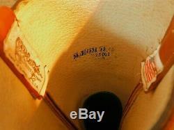 Olathe Tall Tops Polo Buckaroo Leather Boots 18 H 12ee True fit 12D Mule Ears