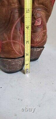 Old Gringo Abby Rose Boots Size 7.5B Vesuvio Brass & Pink Western Cowgirl Cowboy