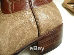 RARE! Vintage LUCCHESE San Antonio EXOTIC Spotted HIPPO Western Boots 10.5 D BID