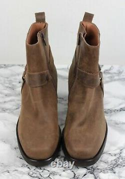 RUSSELL & BROMLEY Tan Brown Leather RINGO Cuban Ankle Boots, Size EU 39 / UK 6