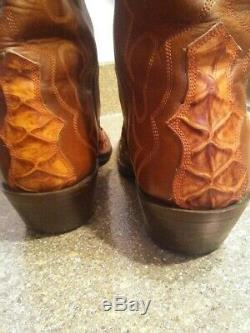 Rare and Exotic Cowboy Boots SZ10D 100 percent authentic