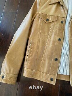 SCHOTT Men's western Leather Jacket 2017 Size small