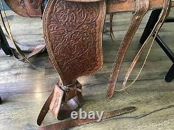 SIMCO 5545 15.5 Western Saddle Horse Ranch Team Roping Trail Pleasure Cowboy