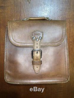 Saddleback Leather Company Indiana Satchel Tobacco New Logo 1 Shoulder Pad