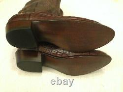 Size11.5 Lucchese Exotic Crocodile Western Boots