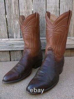 TECOVAS The Nash Bourbon Exotic Teju Lizard Western Cowboy Boots 10 D