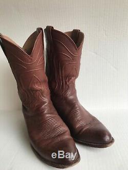 Tecovas Boots Mens Cartwright Classic Cowboy Bourboun Calf Sz 12D. New Sole