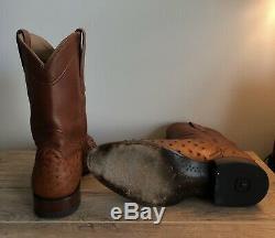 Tecovas Boots The Duke Ostrich Cowboy Boots Size 10.5 D