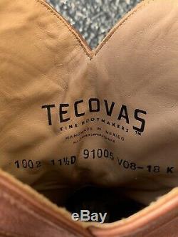 Tecovas The Earl Bourbon Calf Mens 11.5 D Leather Boots 91005
