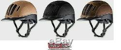 Troxel Sierra Leather Vented Western Riding Safety Low Profile Horse Helmet