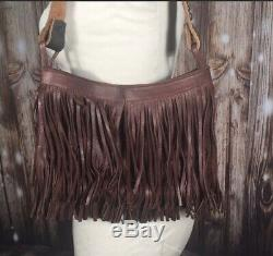 Two Bar West McFadin Handbag Leather Western Southwest Studded Handle Strap