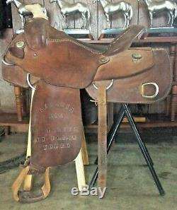 Used 2002 Billy Royal Western Work Saddle 16 with training D-rings Trail Ranch
