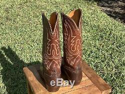 Vintage LUCCHESE MEN'S Cowboy Leather WESTERN Boots Lizard SIZE 10.5D