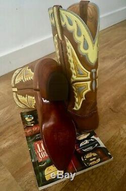 Vintage Lucchese Cowboy boots masterpiece Hemisphères Anatomica